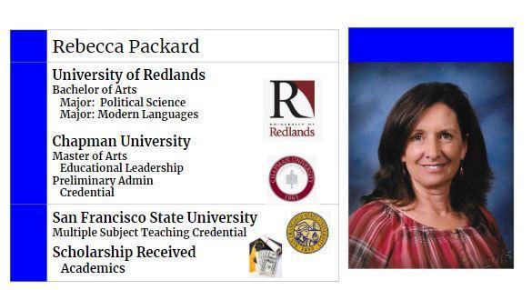 Mrs. Packard's College Info