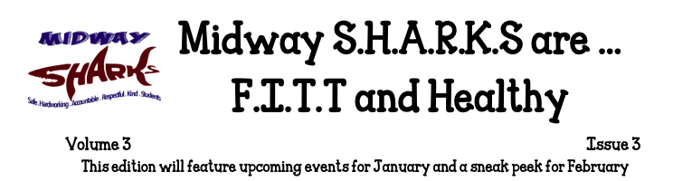 screen shot of Mrs. Rupe's newletter Headline: Sharks are Fitt and healthy