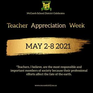 McComb School District Recognizes Teacher Appreciation Week 2021