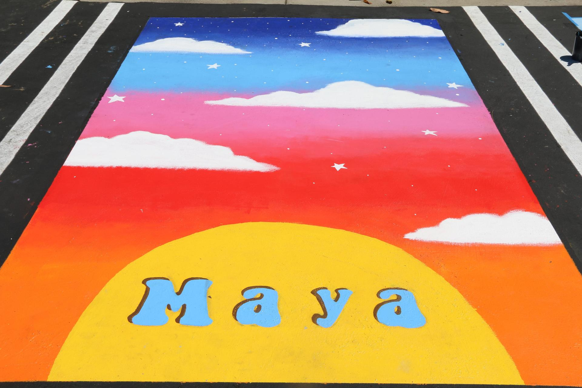 Senior Reserved Painted Parking Spots The Tradition Continues Asb Student Activities Mater Dei High School