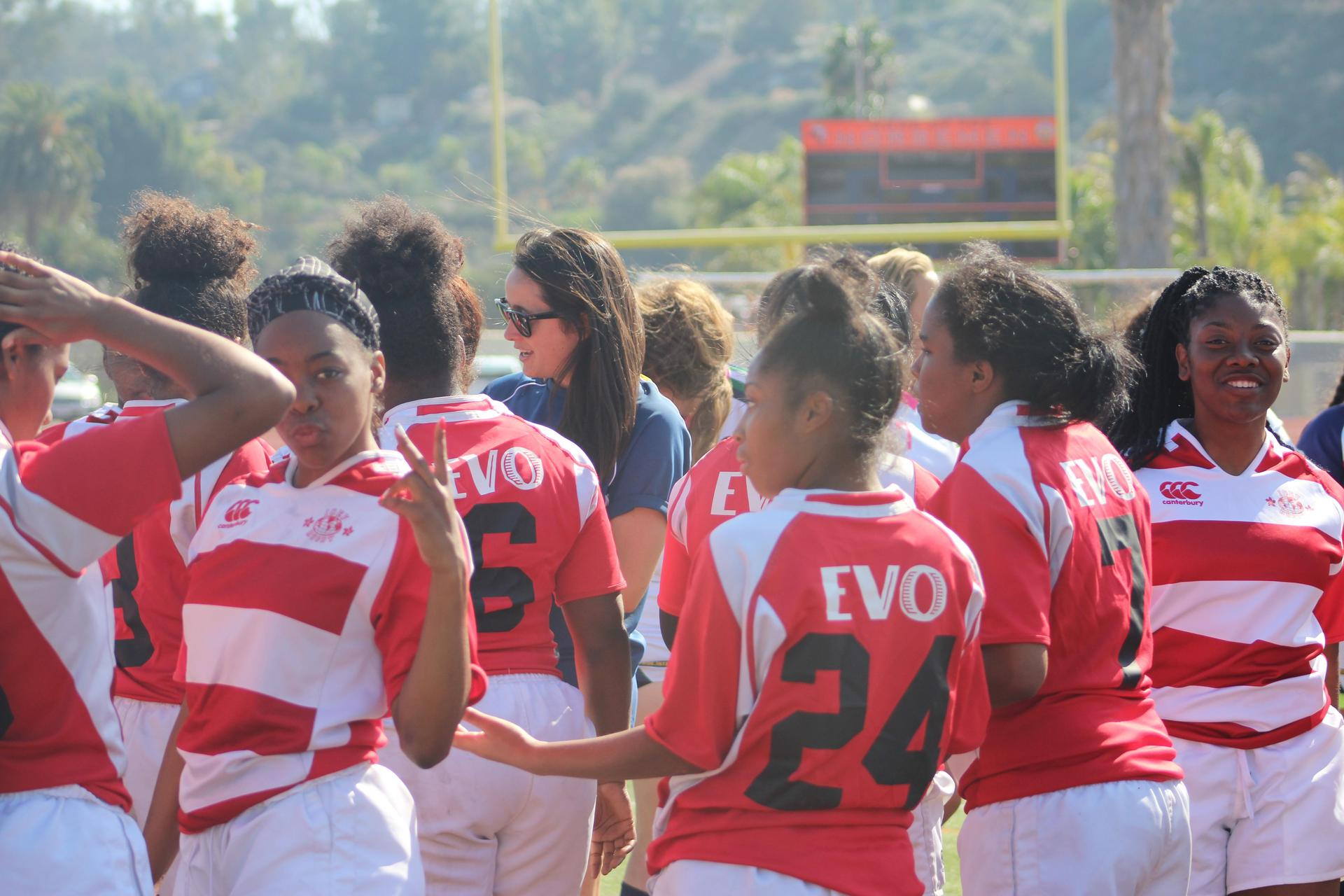 View Park Prep High School Girls representing in the Southern California Youth Rugby Sevens League