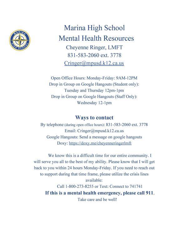 MaHS Mental Health Resources