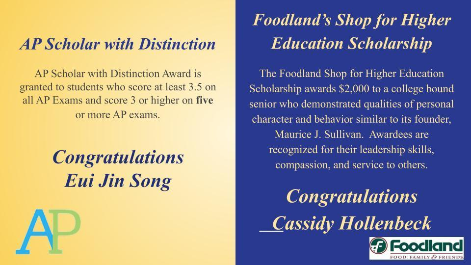 AP distinction Foodland scholarship