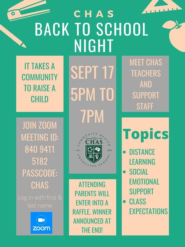CHAS Back to School Night / Noche de regreso a la Escuela de CHAS Featured Photo
