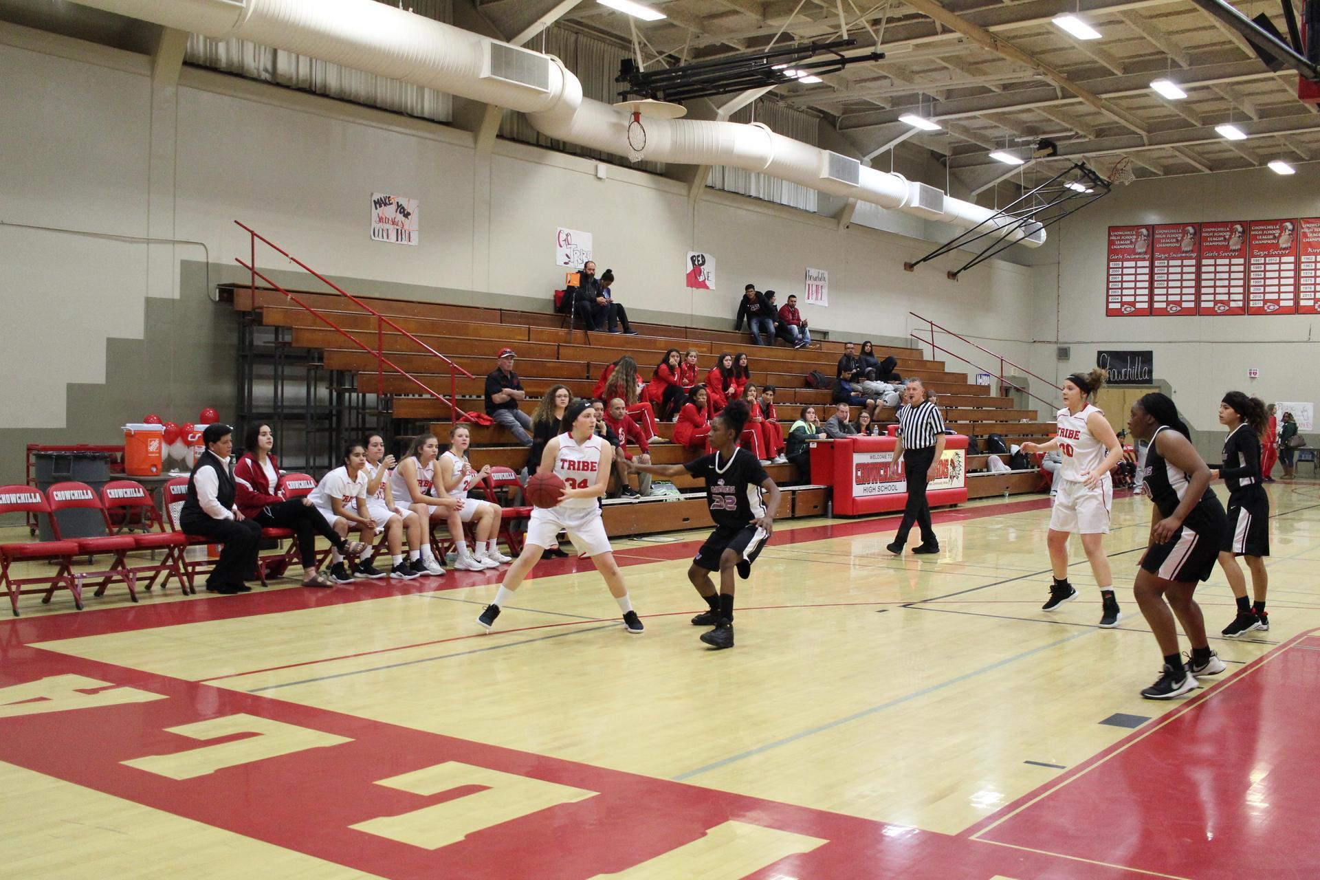 JV Girls Basketball playing against Washington Union