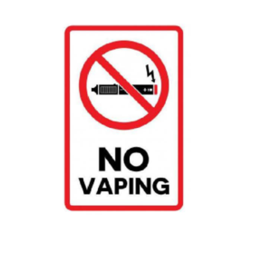 no vaping poster