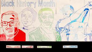 Portion of the 2017 Black History Month poster