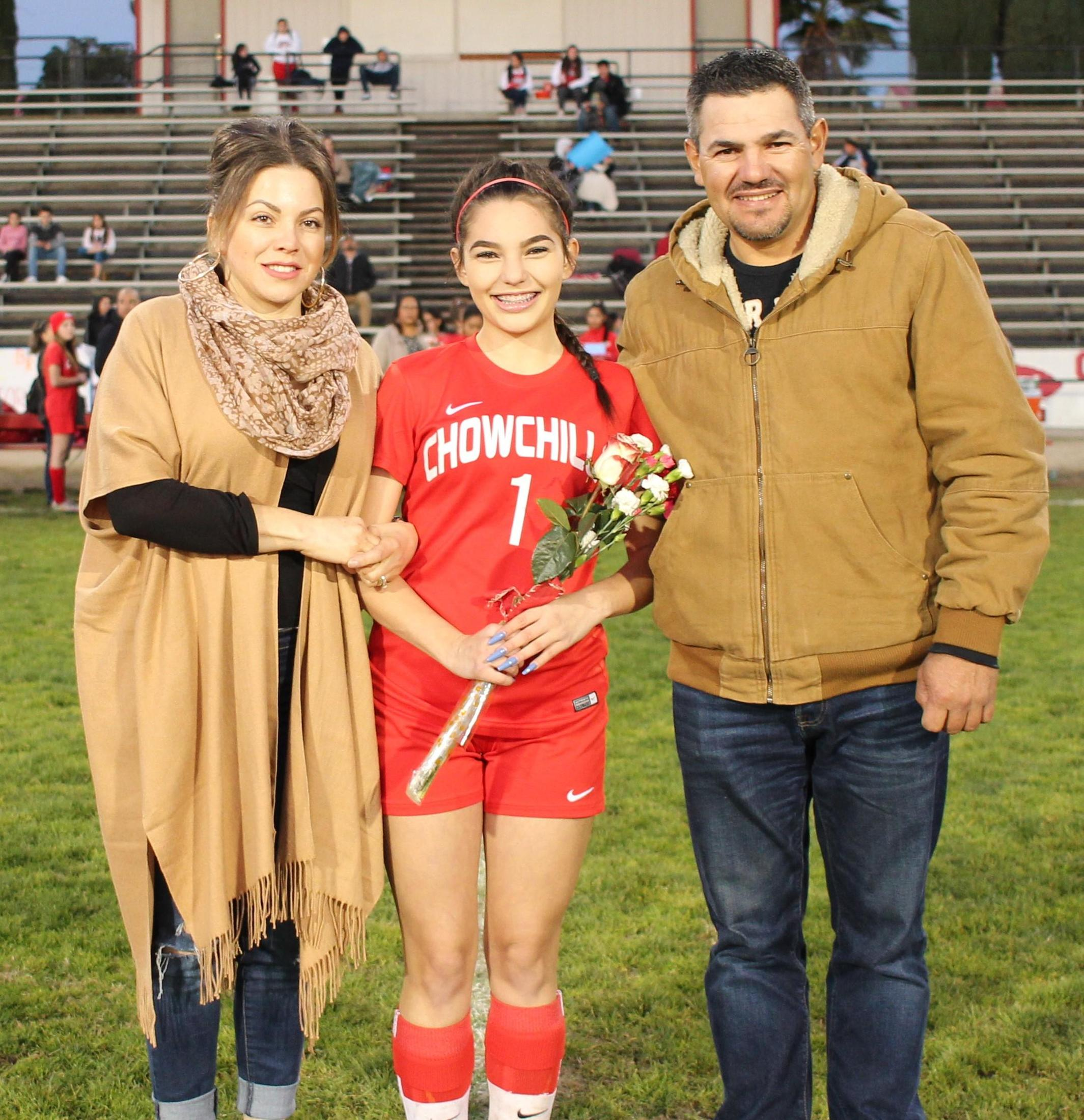 Michelle Jimenez at soccer senior night