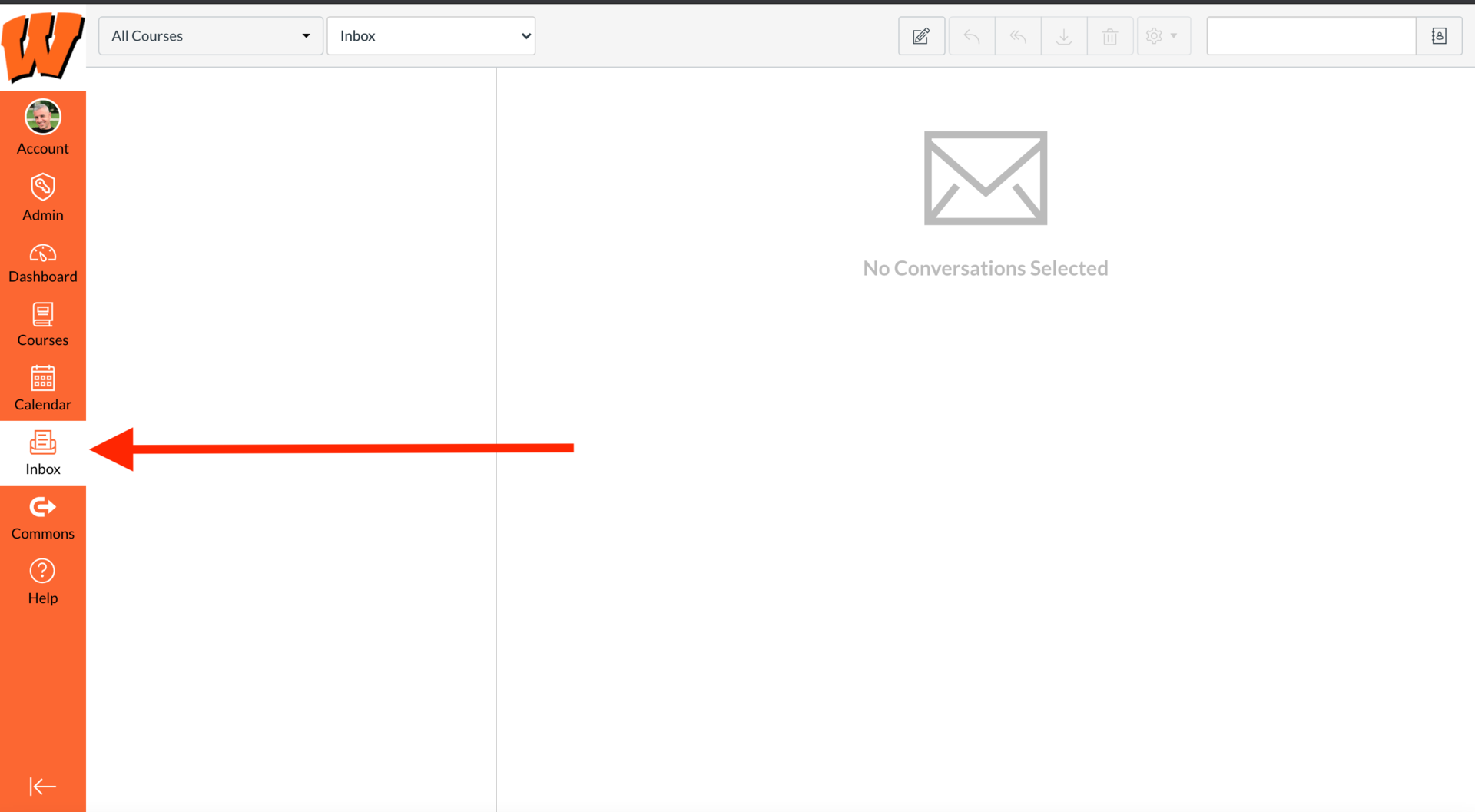 Canvas Inbox screenshot