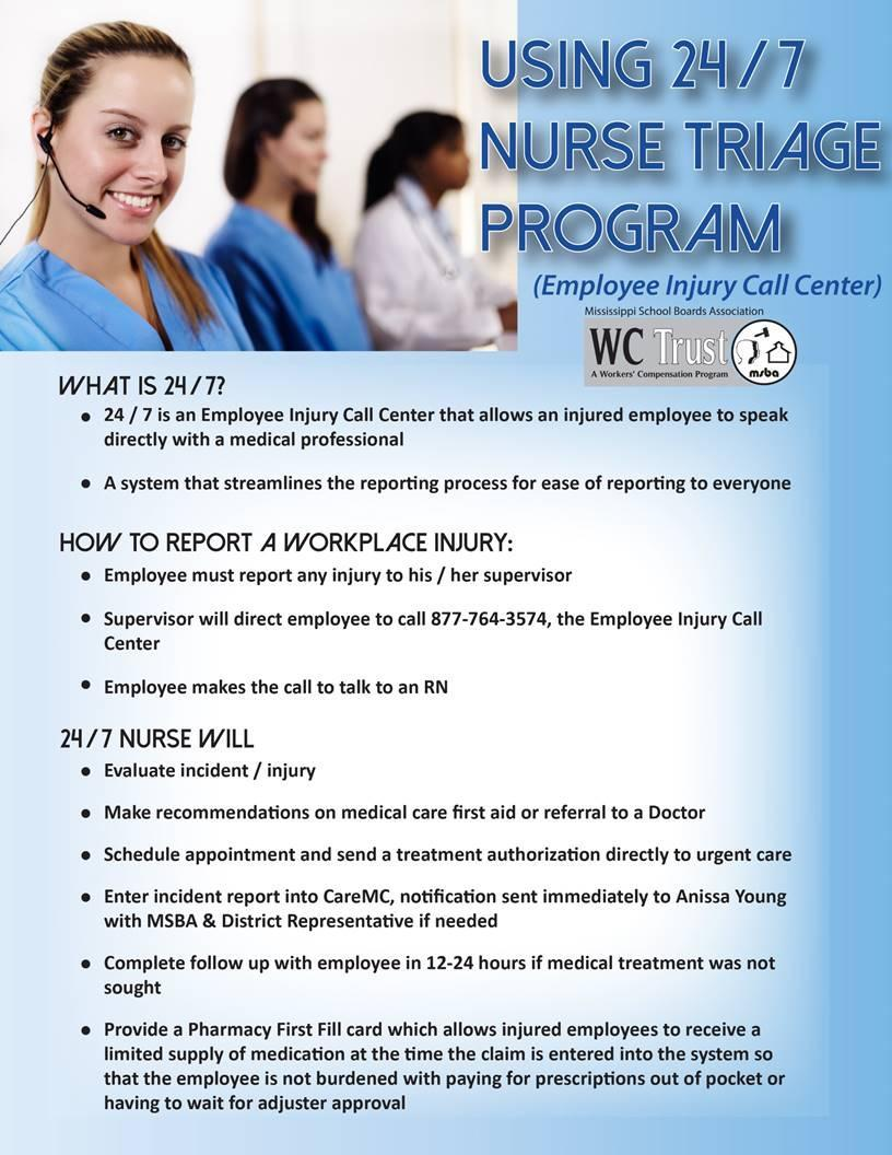 Info about 24-7 Triage Program
