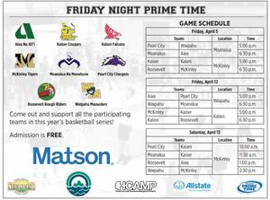Prime time schedule