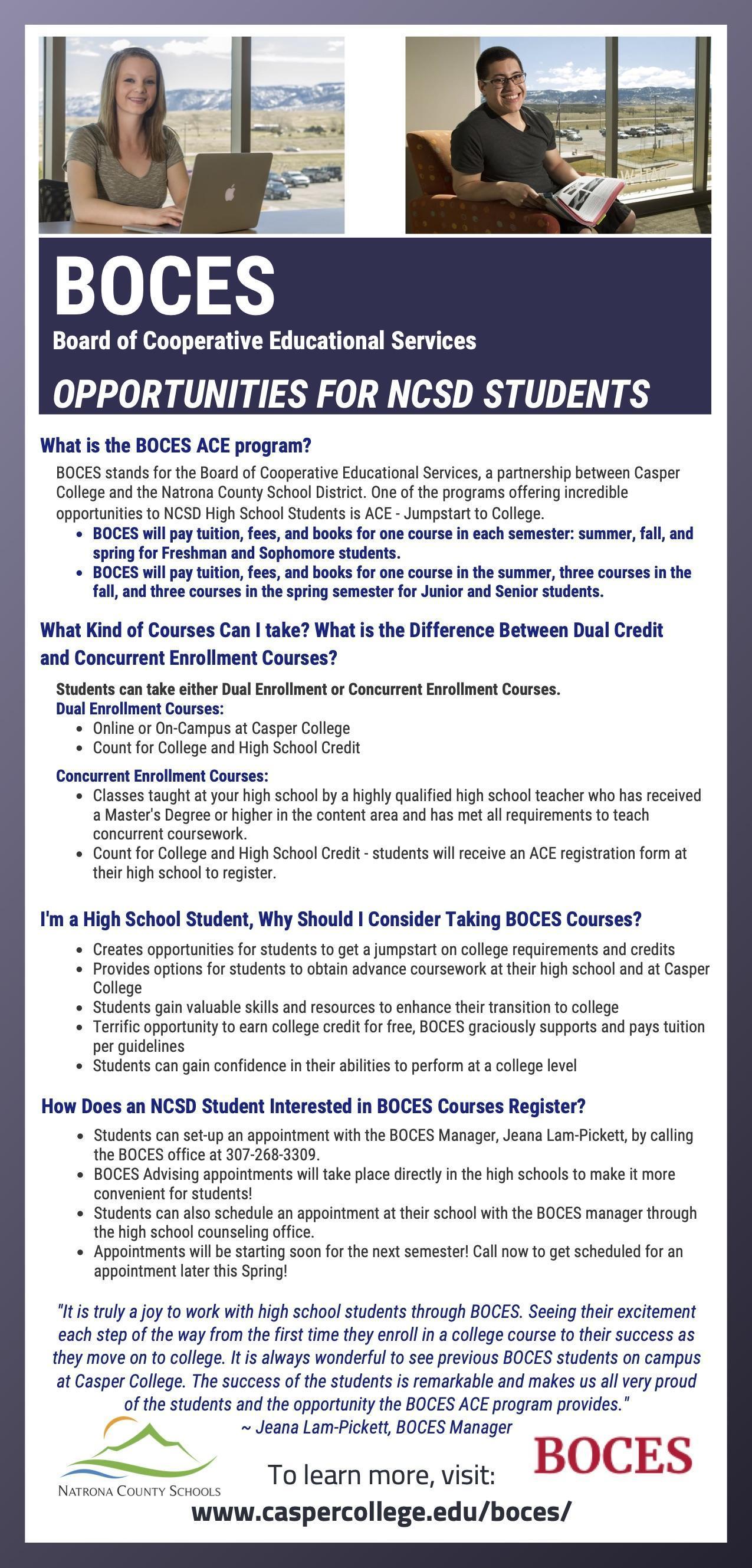 BOCES Information Flyer