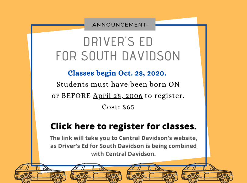 Driver's Ed Announcement
