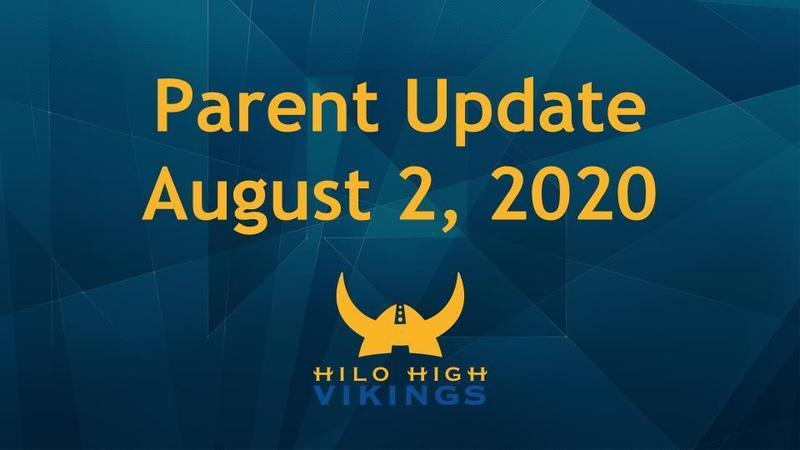 Parent Update (August 2, 2020) Featured Photo