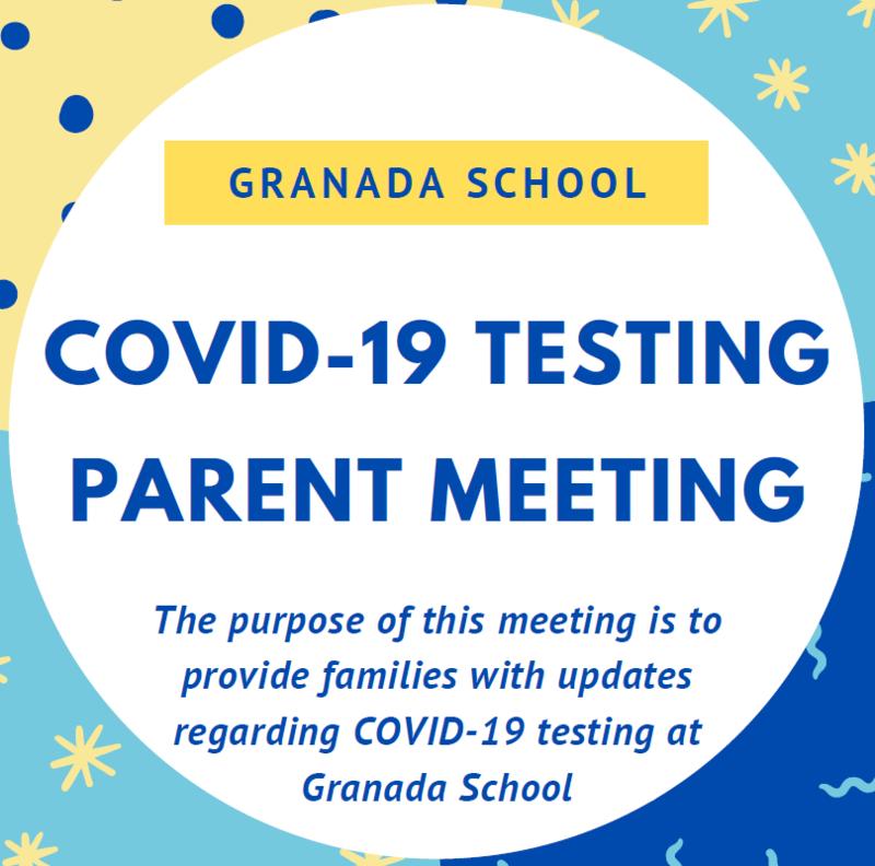 Granada Parent Meeting: COVID-19 Testing Featured Photo