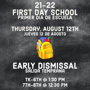 First Day Info Image