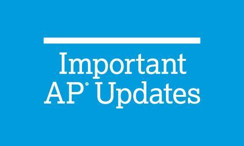AP Exam Updates