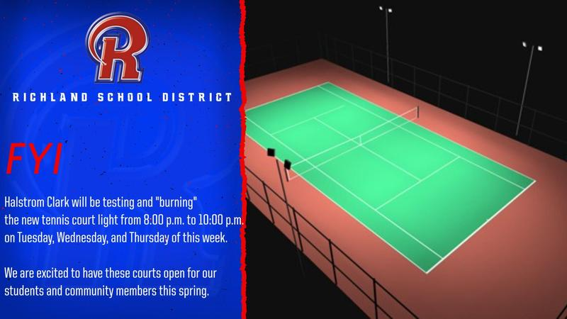 RSD Tennis Courts Light Testing - Week of Feb 22nd Featured Photo