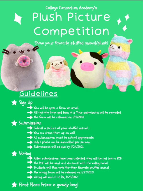 Details for CCA's plush toy picture competition.