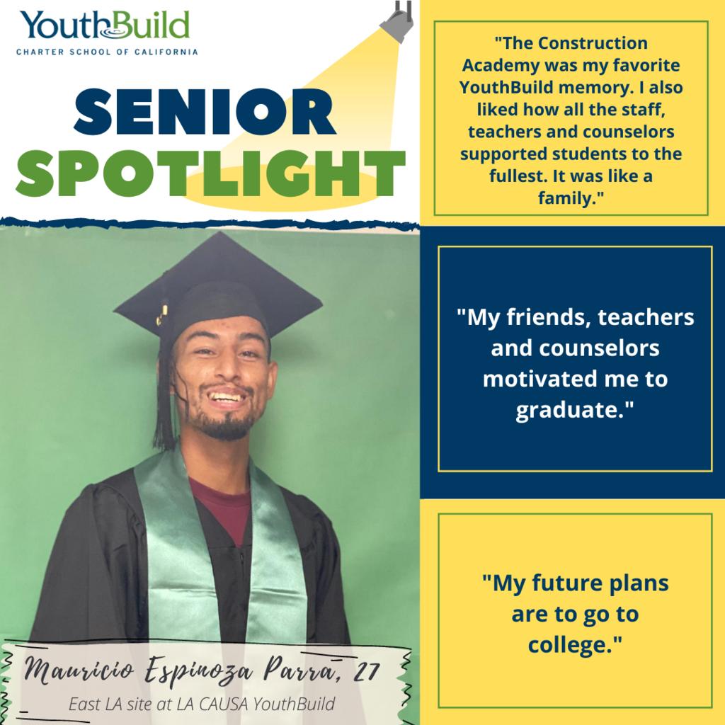 Senior Spotlight for graduate Mauricio Espinoza Parra