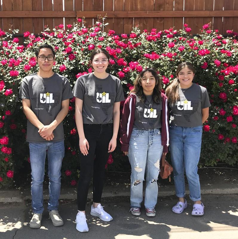 UIL State Academic Meet Competitors - Edwin Munoz-Campos, Navaeh Galvan, Alecia Rangel & Zemira Recio.