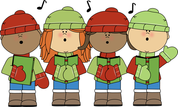 Image result for children holiday singing clipart