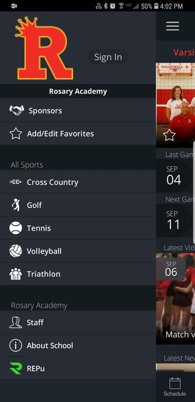 Rosary launches Athletics App! Featured Photo