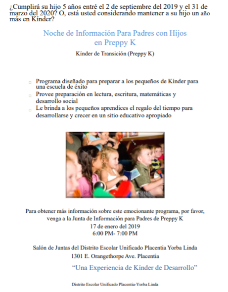 Preppy K Spanish