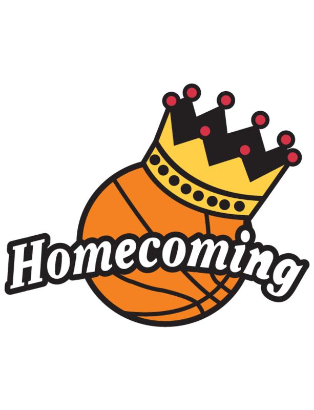 Basketball Homecoming ball with crown