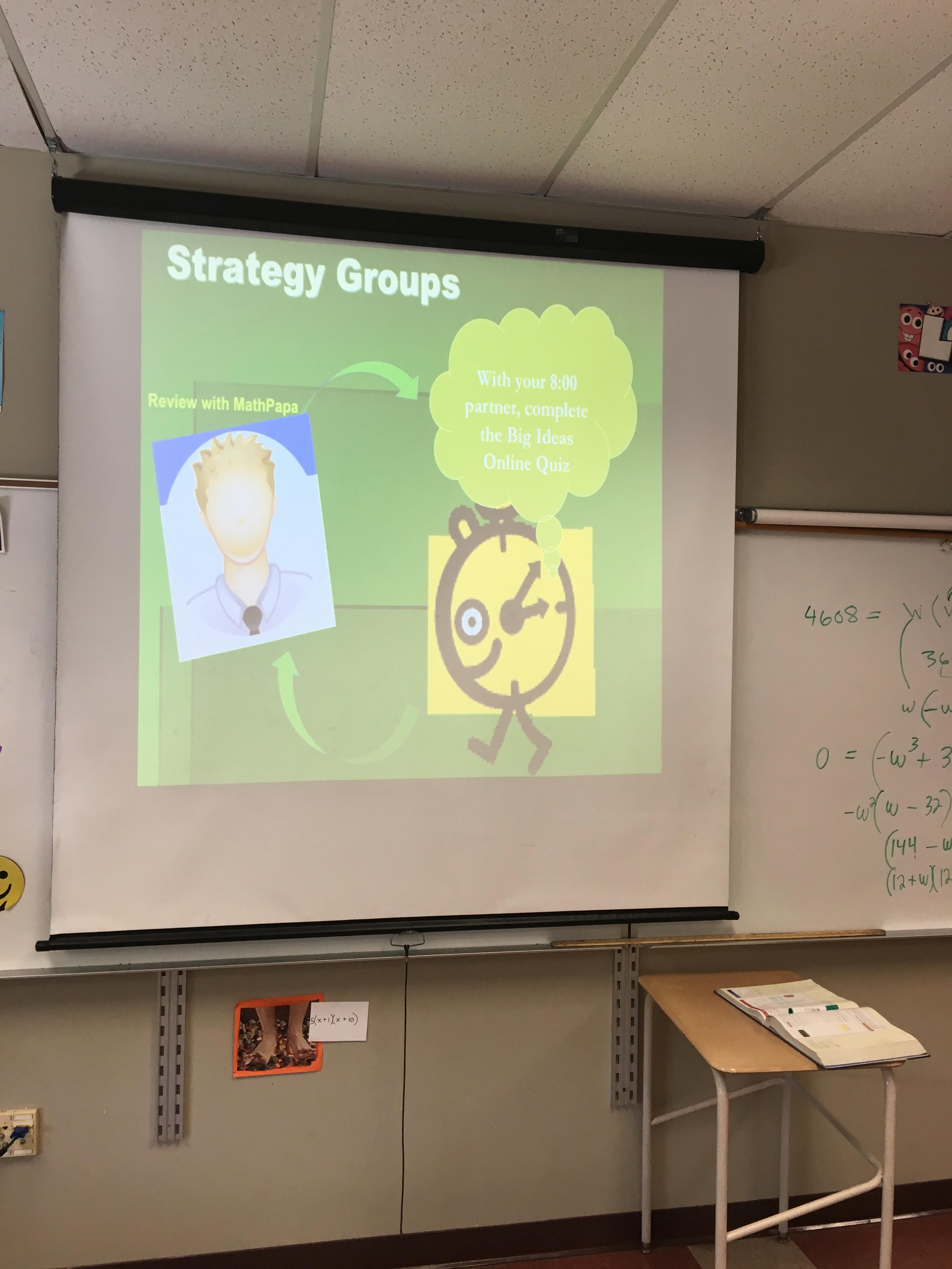 Strategy groups