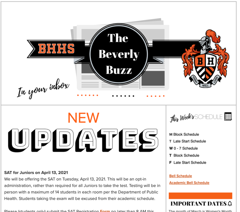 BHHS Newsletter - The Beverly Buzz - March 3, 2021