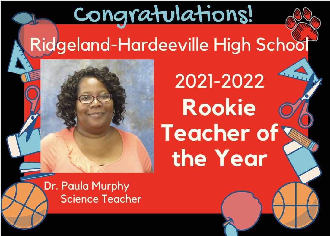 RHHS Rookie Teacher of the Year