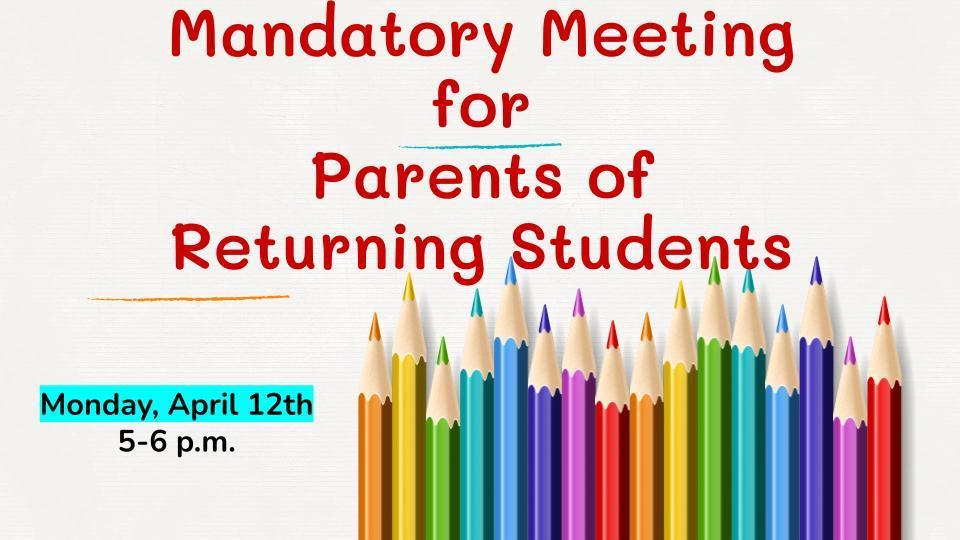 Parent Meeting Information for ReOpening on April 19th Image