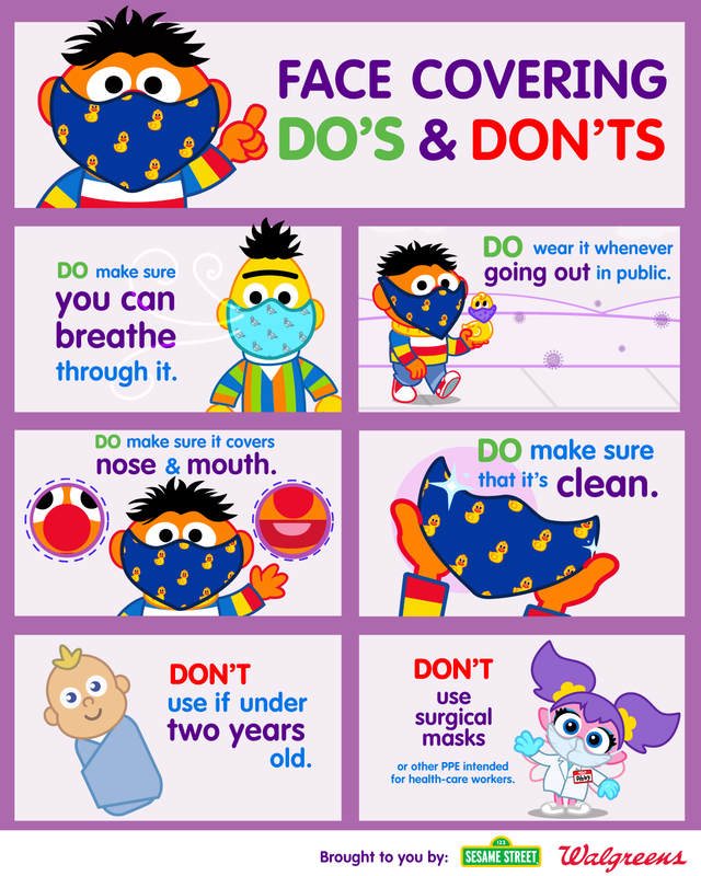 """The Sesame Street friends are here to share the """"do's"""" and don'ts"""" of wearing a face mask to stay healthy in public! Featured Photo"""