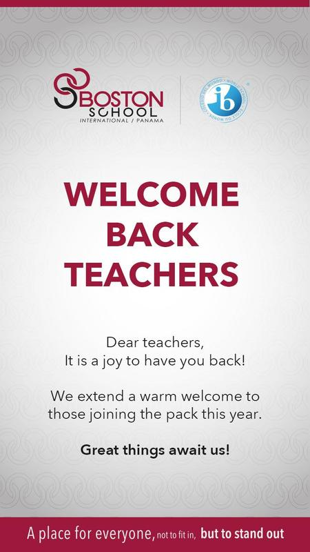 Welcome Back Teachers Featured Photo