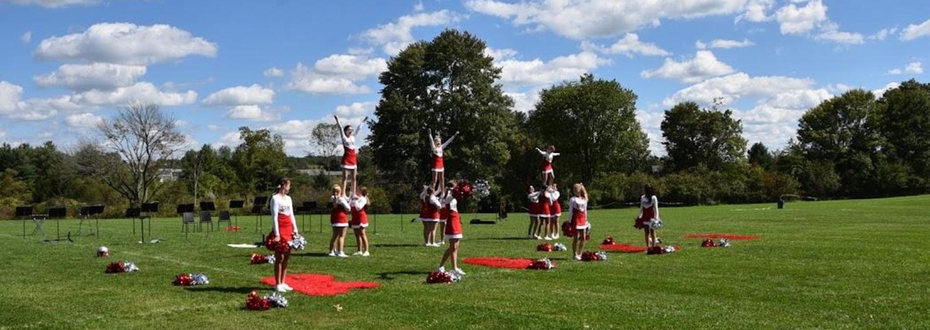 Cheerleaders at the pep rally