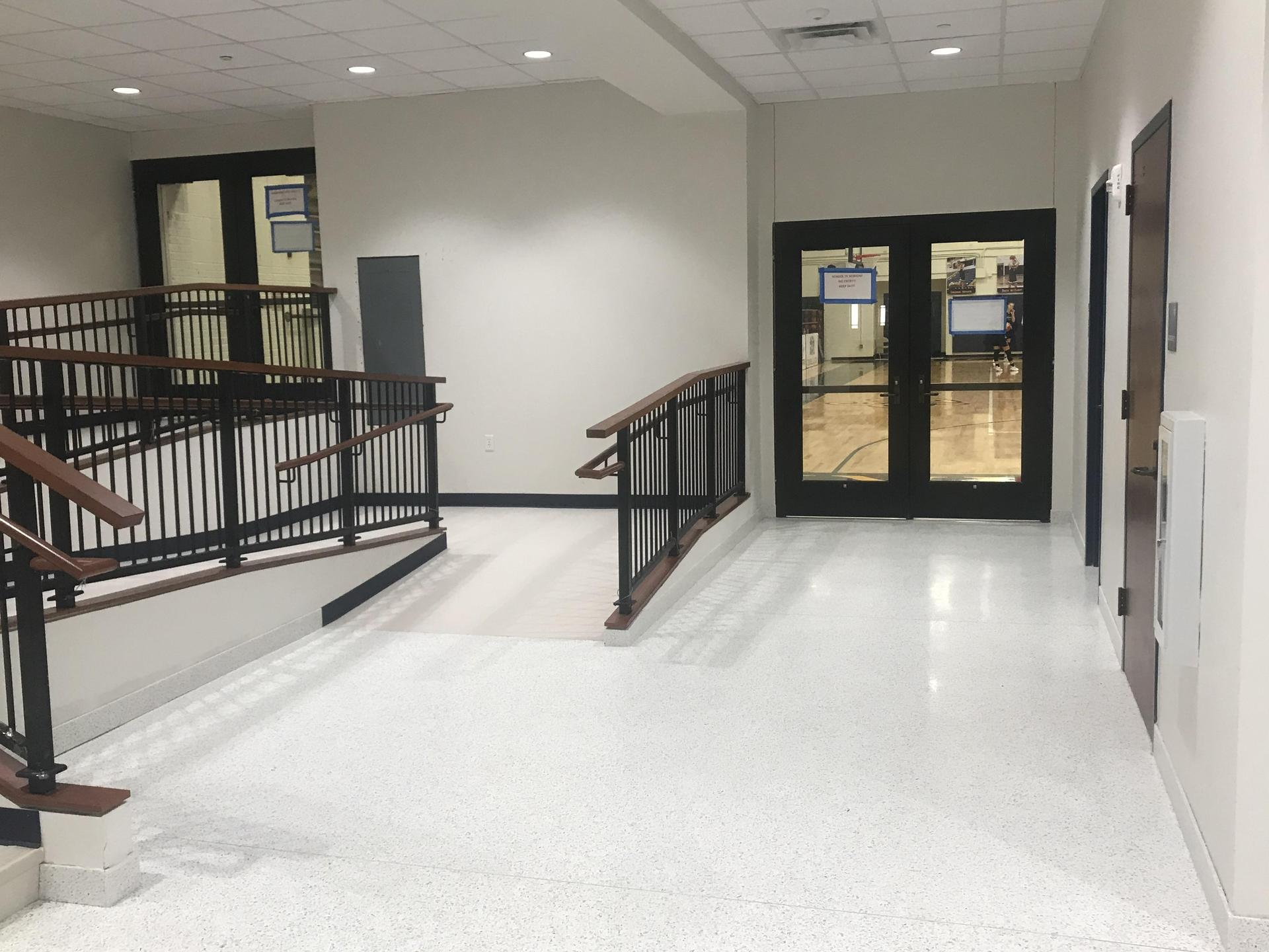 HPHS new entry ramp into Basketball gym