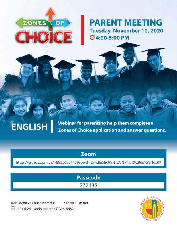 Zones of Choice meeting - English