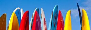 photo of surfboards against the sky