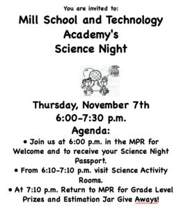 Science Night November 7 @ 6:00 pm