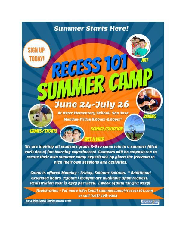 Recess 101 Summer Camp