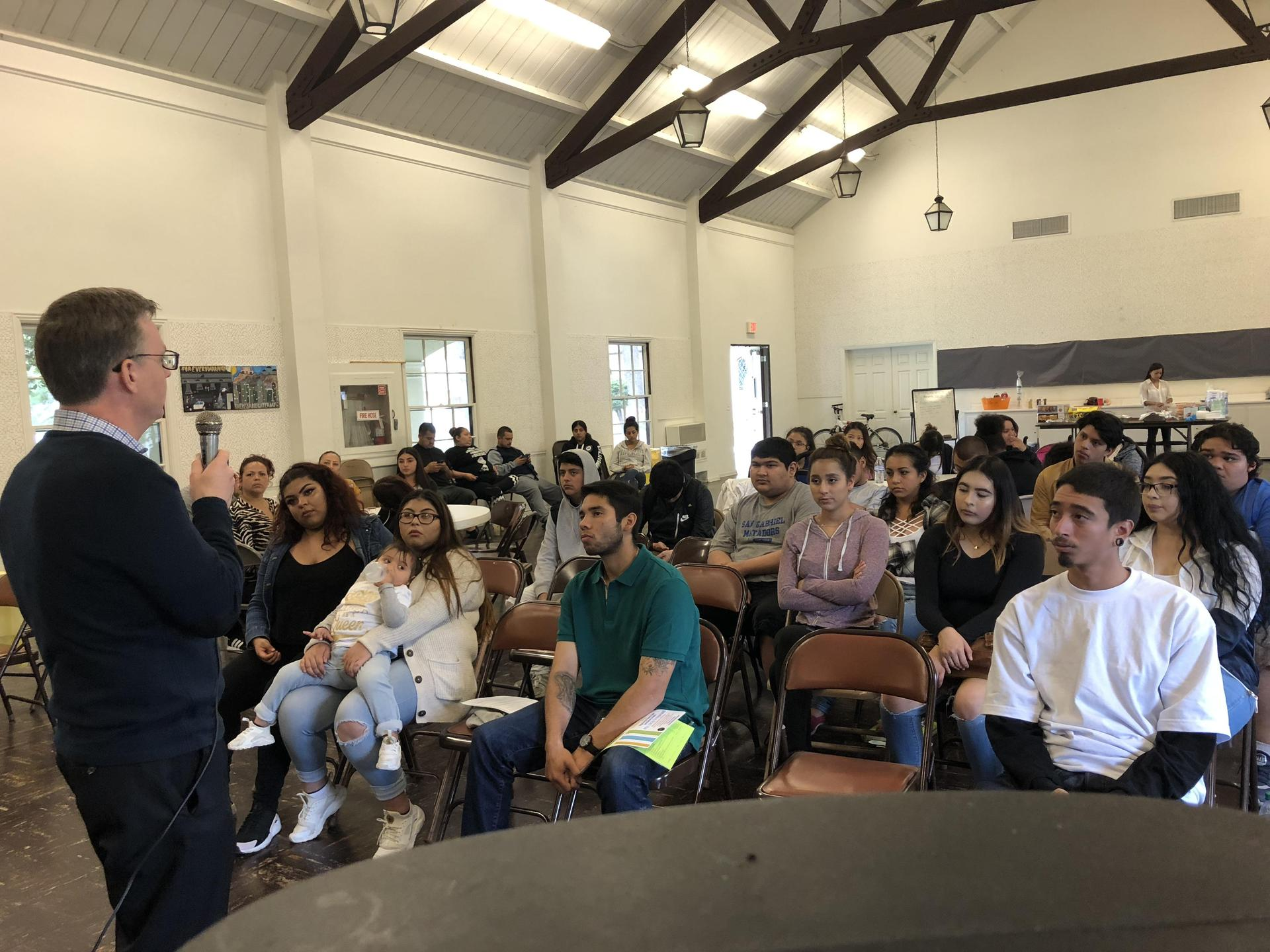 Guest speaker talks to students at SGVCC