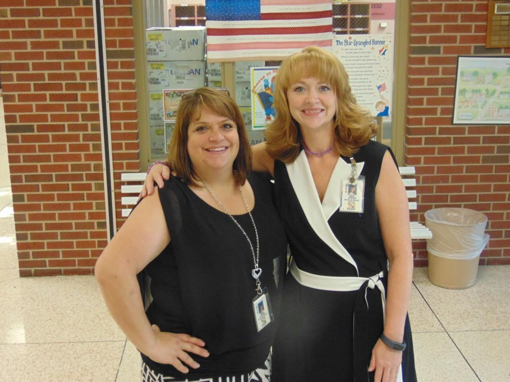 Image of Mrs. Kuhar and Mrs. Aaron.