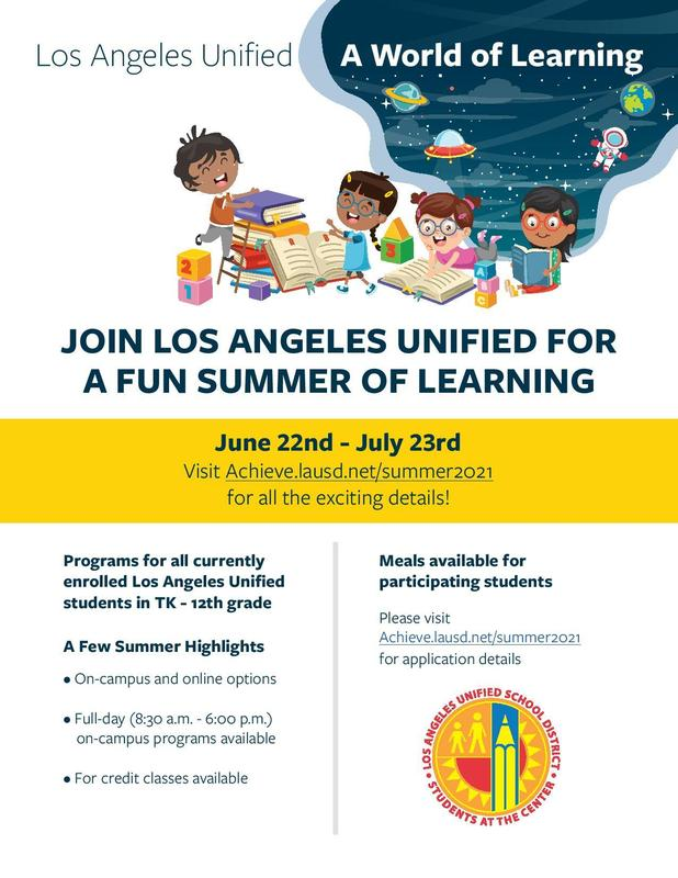 A FUN SUMMER OF LEARNING   6/22 - 7/23 Featured Photo