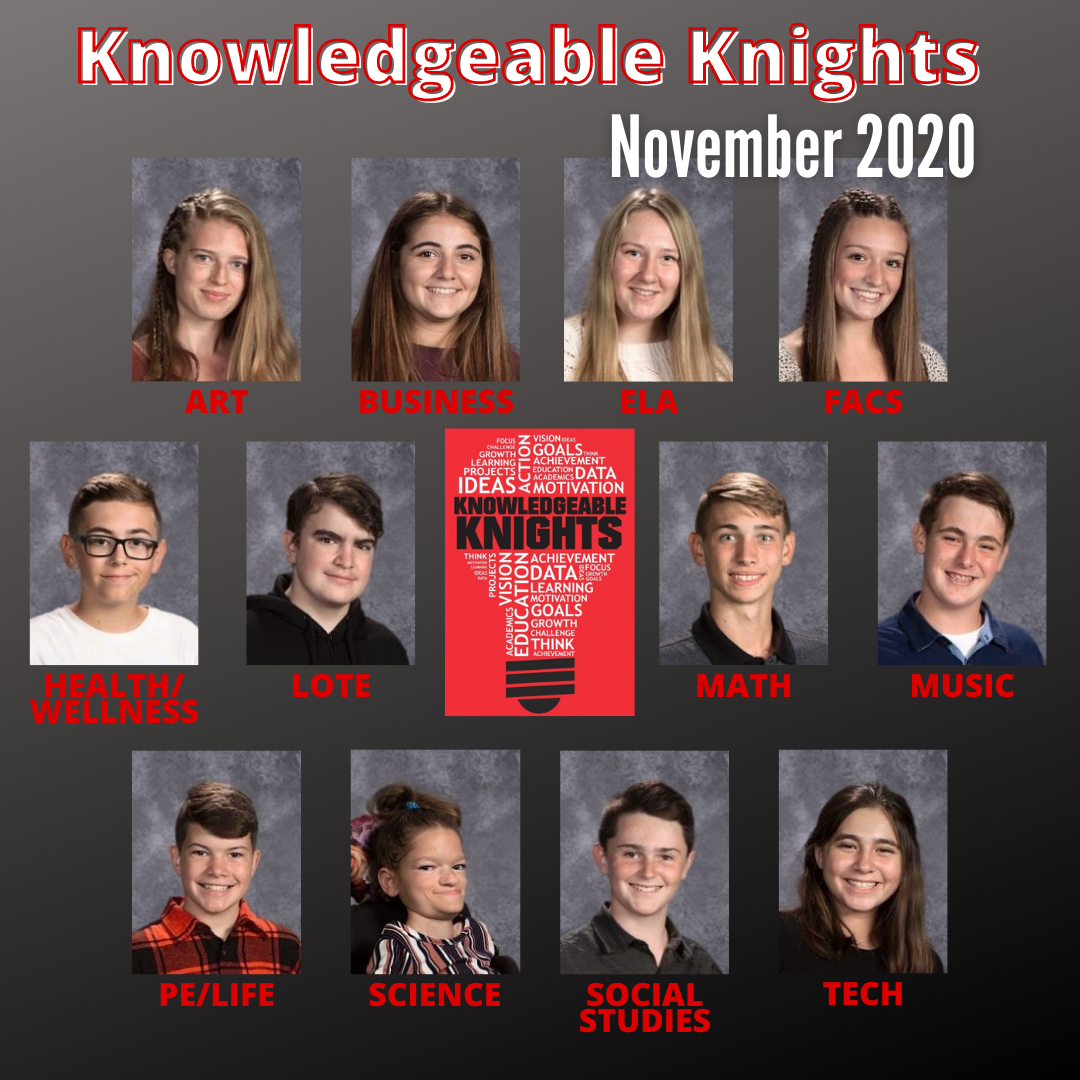 November 2020 Knowledgeable Knights