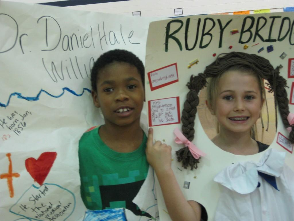 Wax Museum-Dr. Daniel Hale and Ruby Bridges