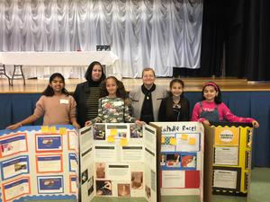 RWS students with superintendent and dr. makar