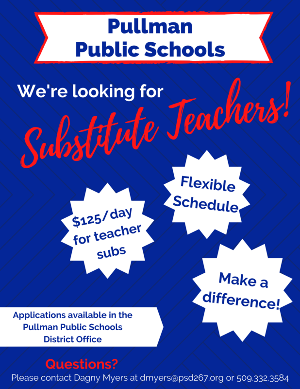 We're looking for Substitute Teachers! Thumbnail Image