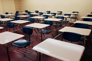 Classroom desks photo