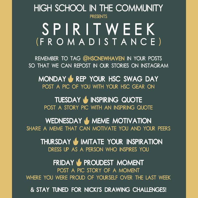 spirit week poster with daily themes